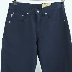 Carhartt Canvas Carpenter Jeans Blue Size 34 x 30